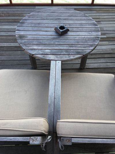 Wood - Material No People Chair Day Outdoor By The Deck Chillout Sundeck Wood