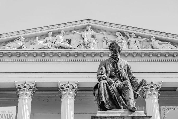 Blackandwhite Budapest City Monument Museum Scultpture Statue Streets