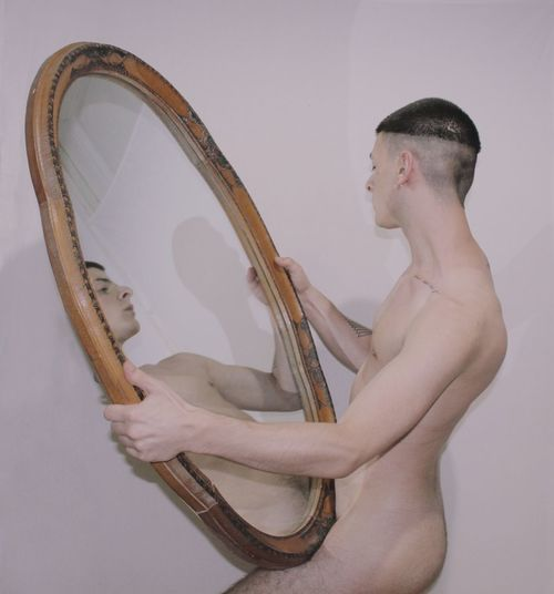 Aesthetics Emotions Mirror Nude-Art Nudity, Art Body Part Canonphotography Nude_model Pale Photoart Photographer Photography Queer Selfportrait Skin Young Men