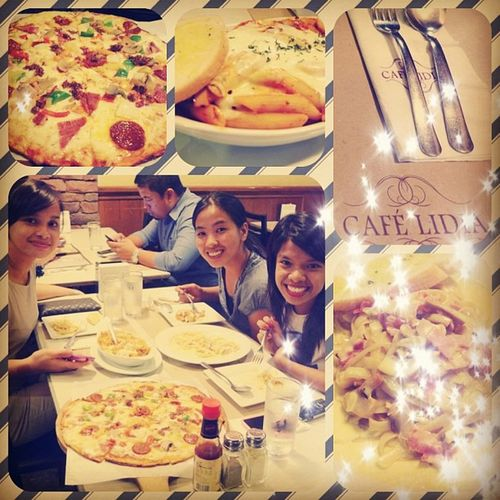 Advance birthday celebration with BBF! thank you girls @miss_joycie and Ynah loveyou! 😍😱😊😃🎉🎁💋🍴🍝 Bday2013 20130422