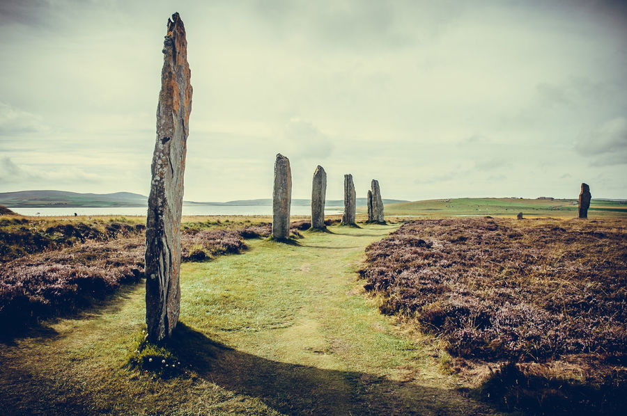Stenness standing stone Ancient Celtic Circle Druid History Landmark Magic Megalithicsite Mystery Orkney Prehistoric Religion Rock Scotland Stenness Stone