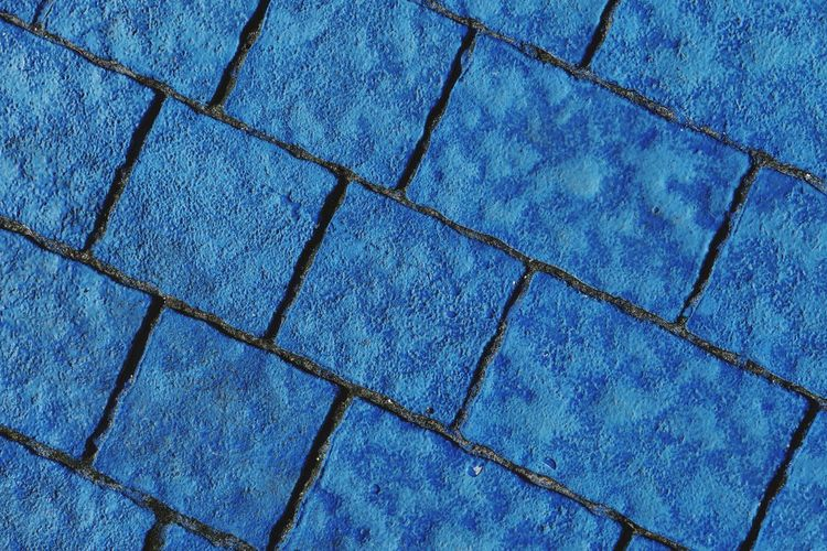 Street Photography Full Frame Backgrounds Pattern No People Blue Day Textured  Close-up Footpath Outdoors Flooring Shape Paving Stone Repetition