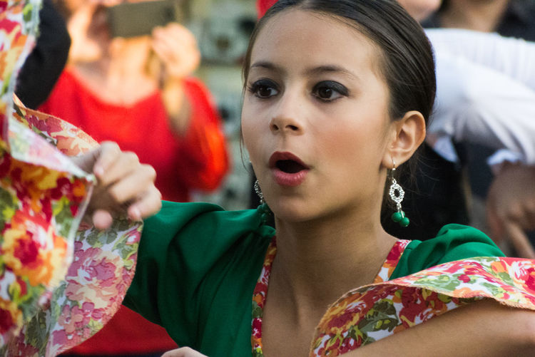 Girl dancing spanish dance