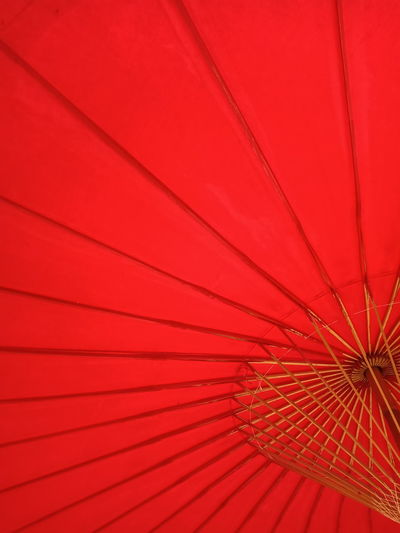 Full frame shot of red parasol