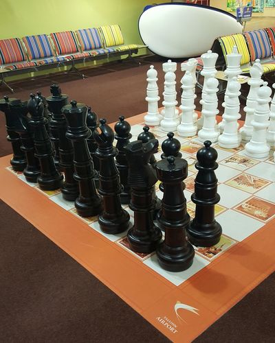 Giant chess... Chess Chessboard Airport Entertainment Giant Chess Giant Chessboard
