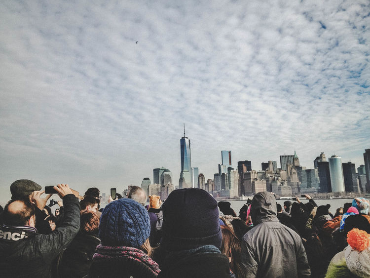 NyC skyline Taking Photos Sky And Clouds Photos Of People Taking Photos People Watching People Photography Skyline City Life Cityscapes New York City Snapshot Taking Photos New York Urban Streetphotography Eye4photography  Snapshots Of Life Manhattan Street Photography People Of EyeEm People Together