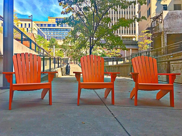 Chairs Orange Adirondack Chairs Seating Area Seating Arrangements Seats Seats And Shelters