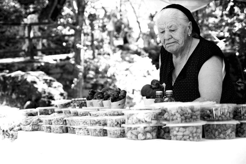 Krka Taking Photos Delicious Old Woman