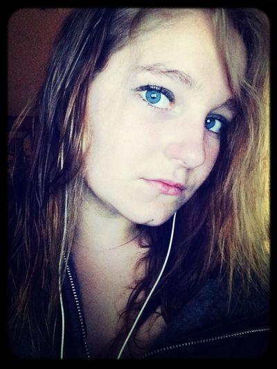 Headphones Pretty Blue Eyes Missing You