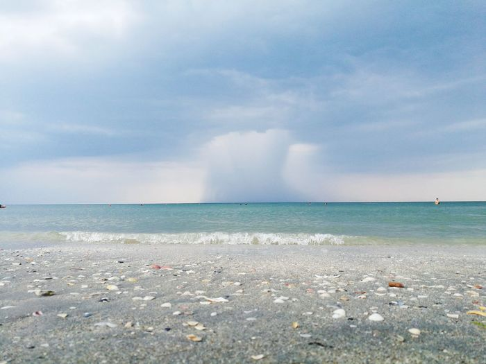 Sea Water Beach Danger Cloud - Sky Horizon Over Water Sky Nature Outdoors Scenics Day Beauty In Nature Accidents And Disasters Heat - Temperature No People Sand Rain RainyDay Colour Your Horizn Visual Creativity