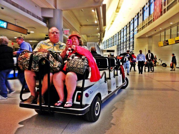 At Newark airport.
