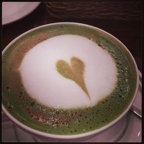 喔耶,我最愛的抹茶拿鐵Mochalatte