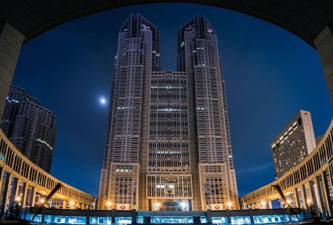 Architecture Illuminated Night Building Exterior Skyscraper City Travel Destinations Low Angle View Built Structure Outdoors Urban Skyline Blue Cityscape Sky No People Modern