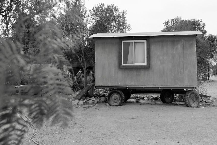 Tree Outdoors Day No People Motor Home Nature House Living Negev  Alternative Alternative Lifestyle Desert Nature Fujifilm_xseries FUJIFILM X-T2 Fujifilm Building Exterior Architecture Built Structure The Secret Spaces The Architect - 2017 EyeEm Awards