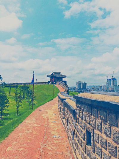 South Korea Suwon, Korea Suwon Hwaseong Fortress City Outdoors Landscape Cityscape Cloud - Sky Nature