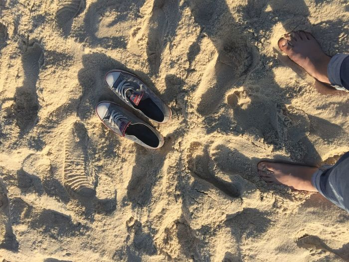 Out Of The Box Sand Beach Shadow Sunlight Day Outdoors Nature Sneakers