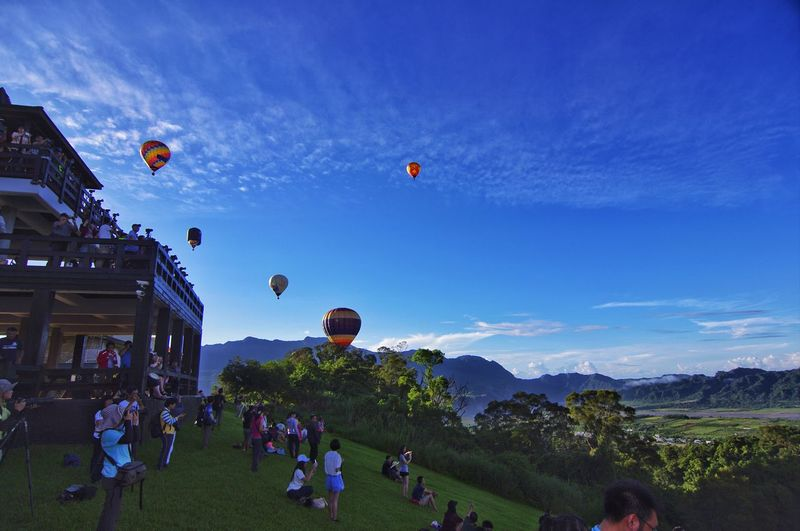 People during ballooning festival