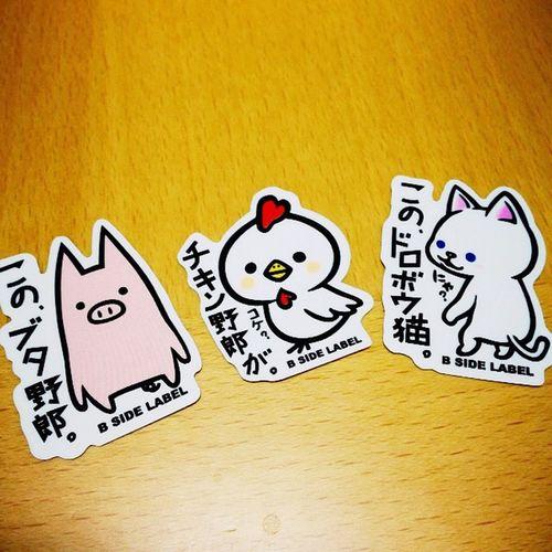 Loft Label Seal 手帳 シール Bsidelabel ブタ野郎 チキン野郎 ドロボウ猫