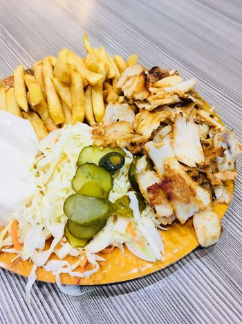 Food Food Food And Drink Freshness Ready-to-eat Prepared Potato Table Potato Healthy Eating Serving Size Still Life Close-up Vegetable Wellbeing High Angle View Indoors  No People Plate Fried French Fries Snack
