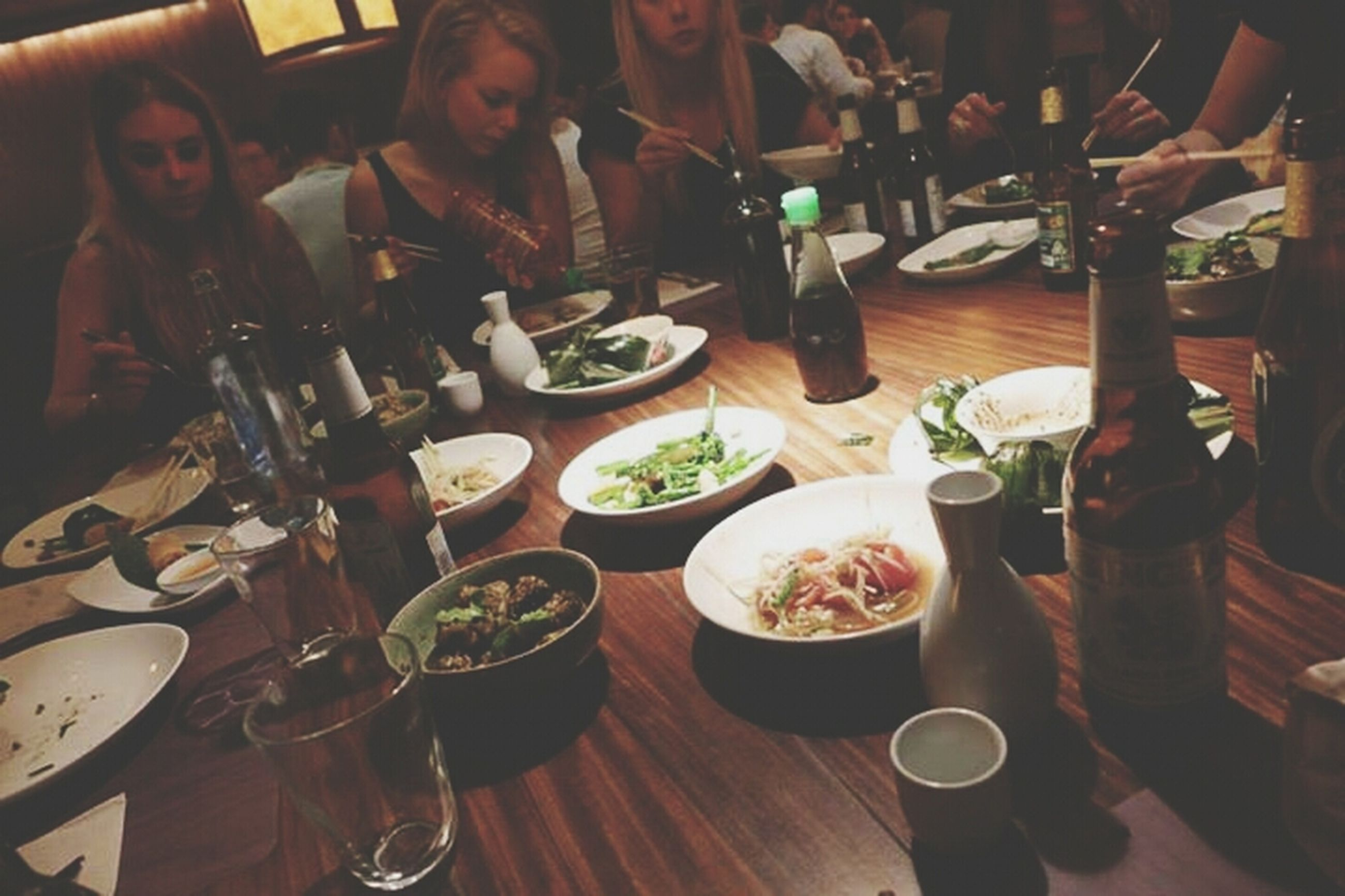 indoors, food and drink, table, freshness, food, drink, plate, restaurant, drinking glass, healthy eating, refreshment, ready-to-eat, meal, fork, bowl, still life, wineglass, dining table