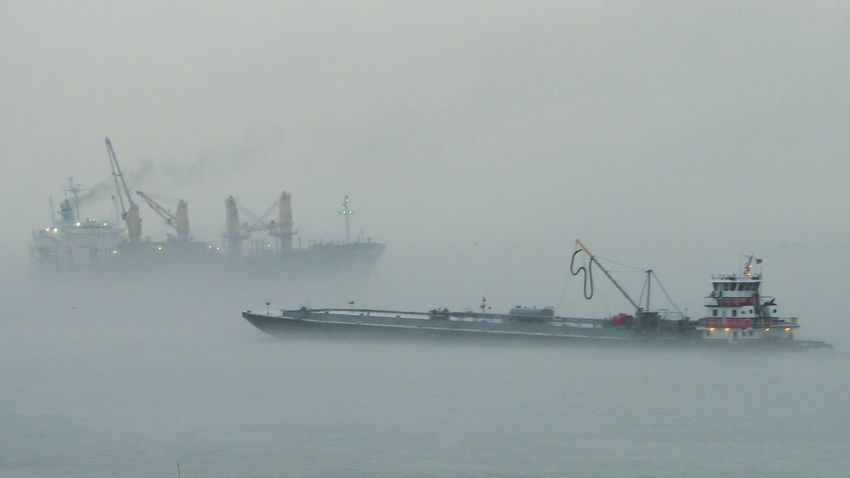 Fog Environment Transportation No People Water Nautical Vessel Business Finance And Industry Nature Outdoors Day Gulf Life Salt Life Eyeemphotography New Orleans, LA Pilot Boat Mississippi River Barge BargeOnTheRiver Fun Times! Traffic Radar Love Nature Scenics On Guard Watchman