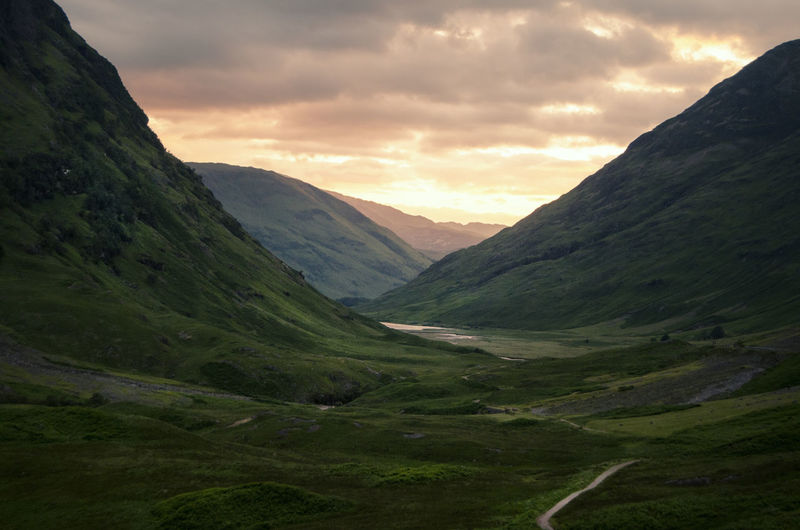 Wonderful Scotland Adventure Clouds Countryside Exploring Geology Glencoe Highlands Hiking Hill Landscape Majestic Mountain Mountain Range Non-urban Scene Outdoors Physical Geography Scotland Sky The Great Outdoors With Adobe Sunset Traveling United Kingdom Natures Diversities Walking Whisky