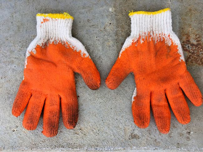 Red Orange Color Grove Body Glove Protection Safety Pair Close-up No People Outdoors Day