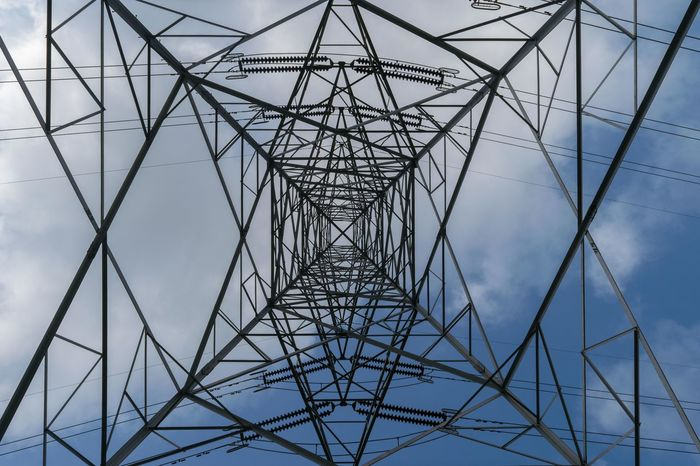 Patterns Symmetry Pattern Electricity Pylon Cable Abstract Steel Connection Grid Electricity  Sky Concentric Girder No People Power Supply Nikon India Maharashtra Mix Yourself A Good Time The Week On EyeEm