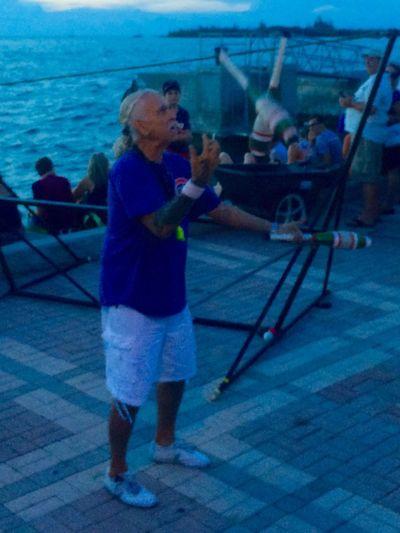 Sunset Celebration Performer  at Mallory Square Key West Juggler Travel Florida Sunset Silhouettes Walking Around Florida Keys