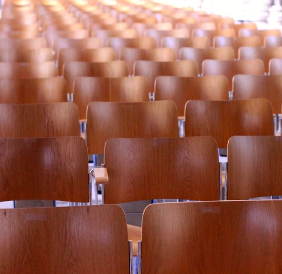 empty chairs set up in rows Empty Chairs Absence Auditorium Chair Chairs Conference Conference - Event Conference Room Day Education Empty In A Row Indoors  Large Group Of Objects Lecture Hall No People Seat University