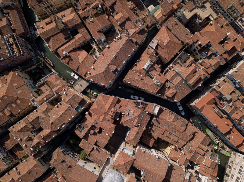 Roads of Venice - Aerial View Architecture Building Exterior Built Structure City Cityscape Full Frame High Angle View Outdoors Patchwork Landscape Venice Lost In The Landscape Mobility In Mega Cities