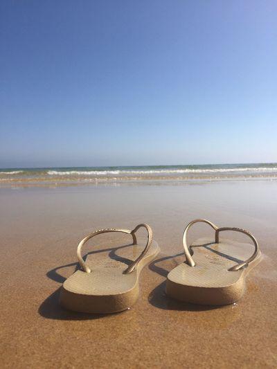 Walking on the beach Enjoying Life Relaxing Clear Water blue sky Enjoying The Sun