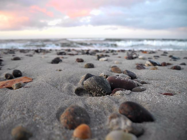 Warnemünde Baltic Sea Autumn Cold Days From My Point Of View Sundown EyeEm Nature Lover Autumn Colors Nature Perspective Vanishing Point Sand Water_collection Light And Shadow No People Nature_collection Focus On Foreground Showcase: November
