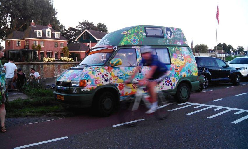 Flower Power🌼 Car Amstel River Ouderkerk Live In Peace Far_out Jimi Hendrix is not dead he Drives Around