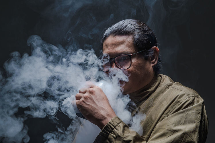 A man Blowing