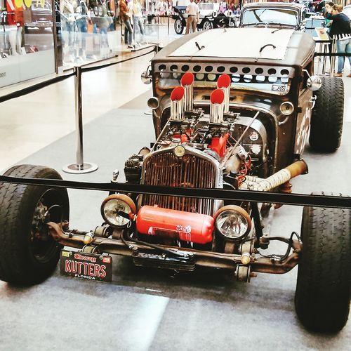 Hotroad Ford Madmax Oldtimer Kiállítás Car Machine Automobile