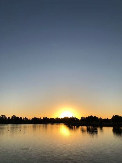 Sunset in Lake Elizabeth Fremont Lake Elizabeth Water Sky Scenics - Nature Tranquility Beauty In Nature Tranquil Scene Lake Sunset