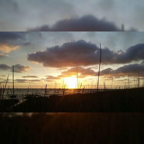 Sonnenuntergang, Deich, Wasser🌆🙈👌