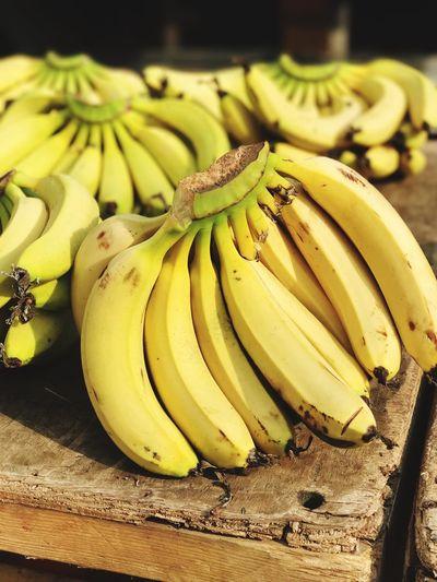 Close-up of yellow bananas