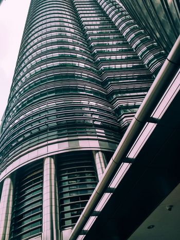Perspektif Built Structure Architecture Low Angle View Building Exterior No People Outdoors City Day Modern Skyscraper Tower Architecture Urban Skyline City City Life Downtown District Travel Destinations Modern Street Tourism Commercial Towers Building Business Finance And Industry Kualalumpur