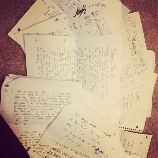 TakeoverMusic Text Paper Lyrical Poetry Love Music Handwriting  Pure