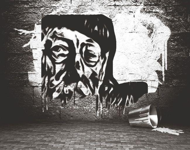 Olympus Photography Playground The Portraitist - 2015 EyeEm Awards NEM Black&white Monochrome Graffity from Hendrik Beikirch