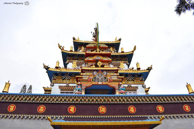 Madikeri Statues Holy Place Clicked On Nikon D3300 Golden Temple Gold Religion Pilgrimage Monastery Praying Shrine Faith Sculpture Prayer Flag