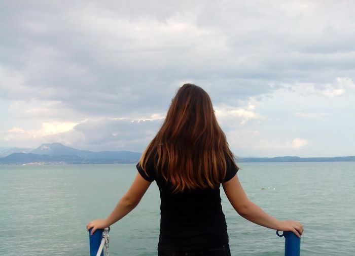 People And Places Italy Lago Di Garda Girl My Favorite Place Long Hair Rear View