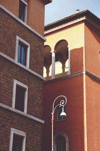 Trip to Rome Architecture Italy Lamp Mediterranean  Pillar Pillars Red Roma Rome Rome Italy Street Lamp