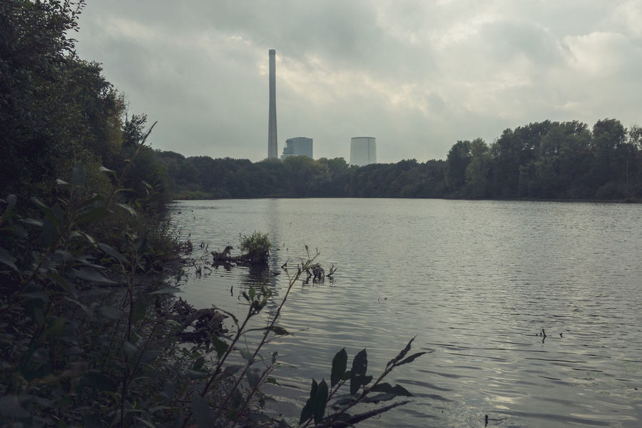 Beversee Built Structure Coal Power Plant IPhone SE Industry Lake Nature Nklb Outdoors Plant Pollution Smoke Stack Sustainable Energy Water