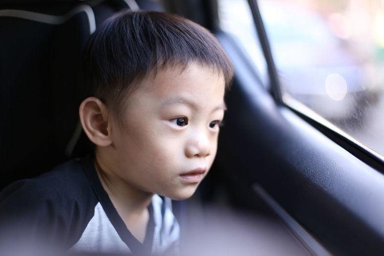 a boy looking