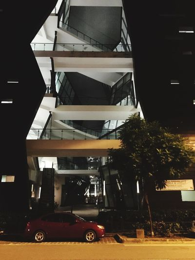 Architecture Built Structure Building Exterior Car Transportation City Modern No People Land Vehicle Outdoors Day Singapore Architecture