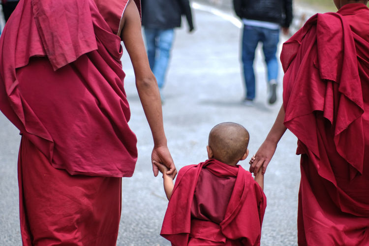 tibetan monks Adult City Day Men Outdoors People Real People Rear View Tibetan Monks Togetherness This Is Aging