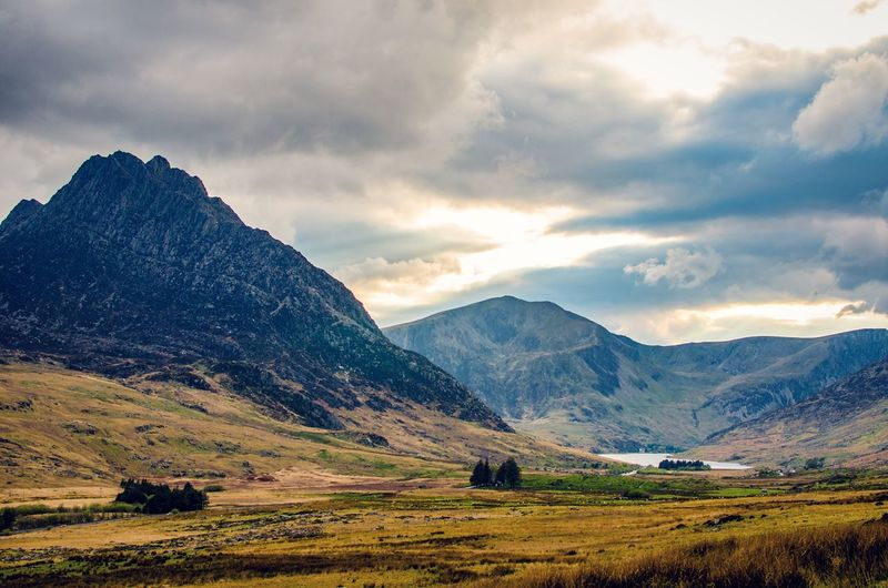 """""""What are men to rocks and mountains?"""" Snowdonia Nationa Park Wales Mountains Sky Clouds Landscape Lake Moors Valleys Mountain Range Hills Nature Grassland Grass Outdoors Remote Beauty In Nature Conwy Valley Snowdonia Moor  Uk"""